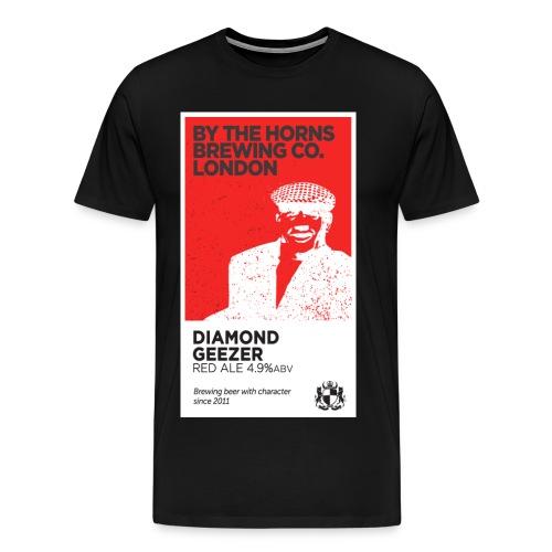 BTH Diamond Geezer, Black - Men's Premium T-Shirt