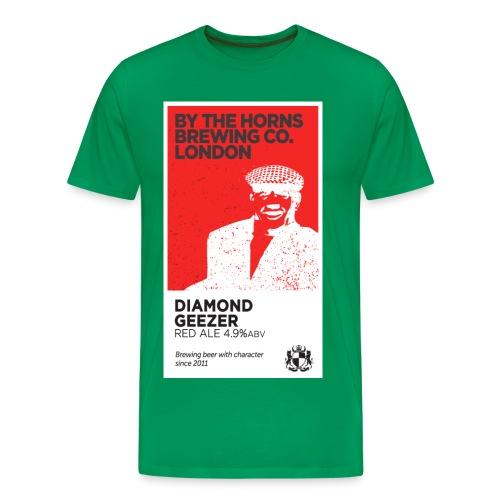 BTH Diamond Geezer, Green - Men's Premium T-Shirt