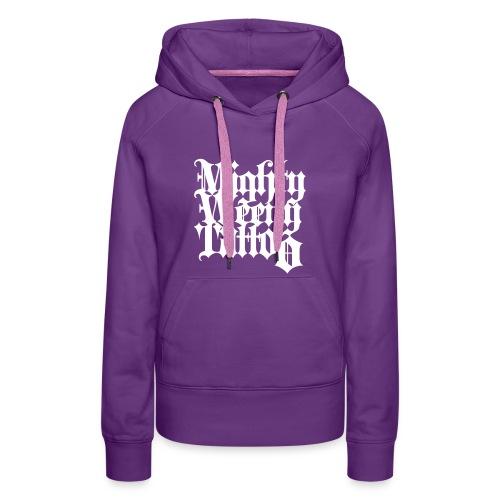 Mightyweeny Custom WHITE Lady Hoody - Frauen Premium Hoodie