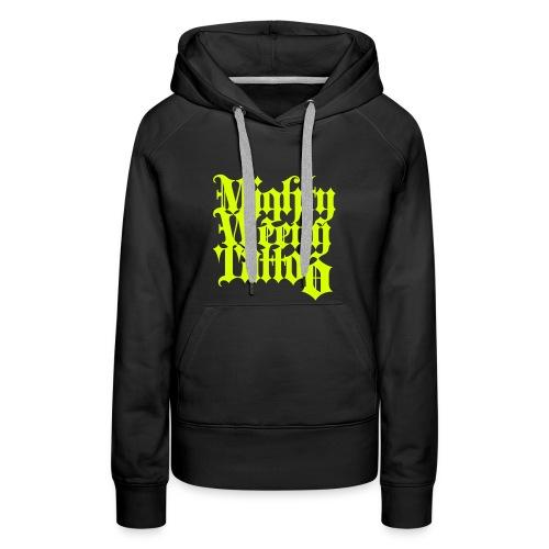 Mightyweeny Custom NEON YELLOW Lady Hoody - Frauen Premium Hoodie