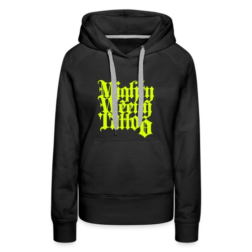 Mightyweeny Custom NEON YELLOW Lady Hoody - Frauen Premium Hoodie