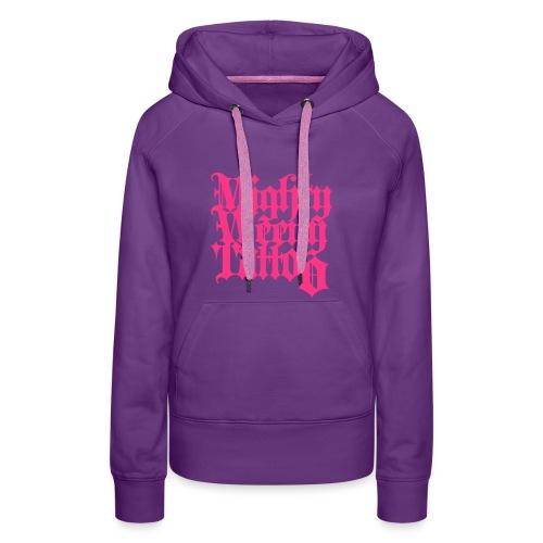 Mightyweeny Custom NEON PINK Lady Hoody - Frauen Premium Hoodie