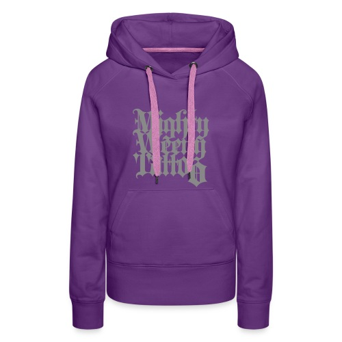 Mightyweeny Custom SILBER GLITZER Lady Hoody - Frauen Premium Hoodie