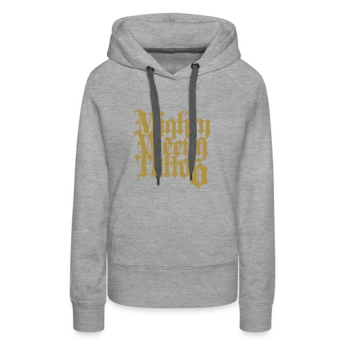 Mightyweeny Custom GOLD GLITZER Lady Hoody - Frauen Premium Hoodie