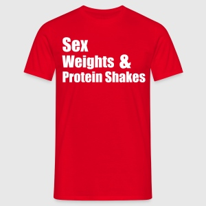 Sex Weights T-shirts - T-shirt herr