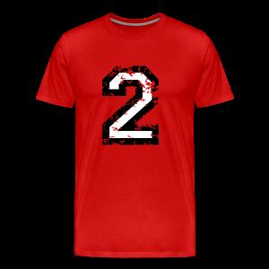 Nummer 2 T-Shirt (Herren Rot) - Männer Premium T-Shirt
