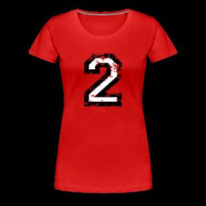 Nummer 2 T-Shirt (Damen Rot) - Frauen Premium T-Shirt