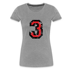 Nummer 3 T-Shirt (Damen Grau) - Frauen Premium T-Shirt