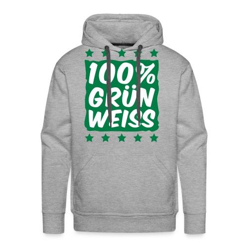 100% Grün Weiss Kapuzenpullover  - Männer Premium Hoodie