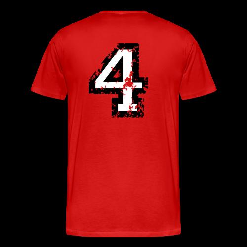 Die Zahl Vier - Nummer 4 (zweifarbig) weiß