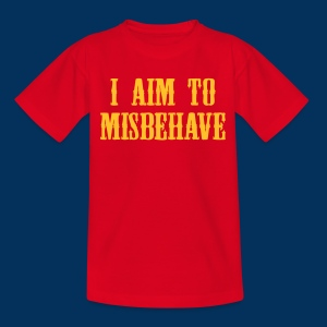 I aim to misbehave (Kids T-Shirt) - Kids' T-Shirt