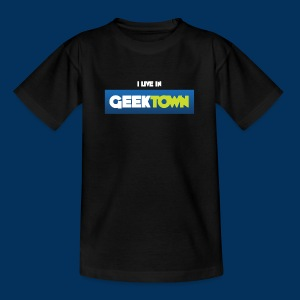 I live in Geektown (Teen) - Teenage T-shirt