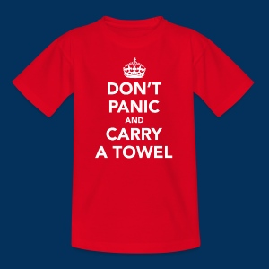 Don't Panic and Carry a towel (Teen) - Teenage T-shirt