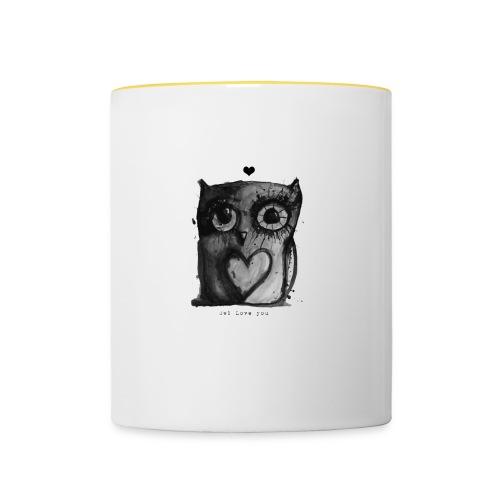 owl love you mugg - Tvåfärgad mugg