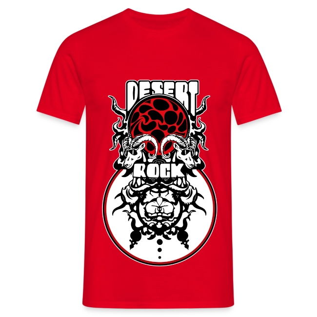 Tee-shirt Desert-Rock rouge - V2