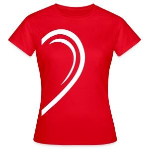 Valentin-Special - Damenshirt links - Frauen T-Shirt