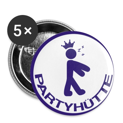 Partyhuette Buttons - Buttons klein 25 mm (5er Pack)
