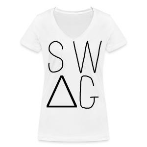 Vrouwen bio T-shirt met V-hals van Stanley & Stella