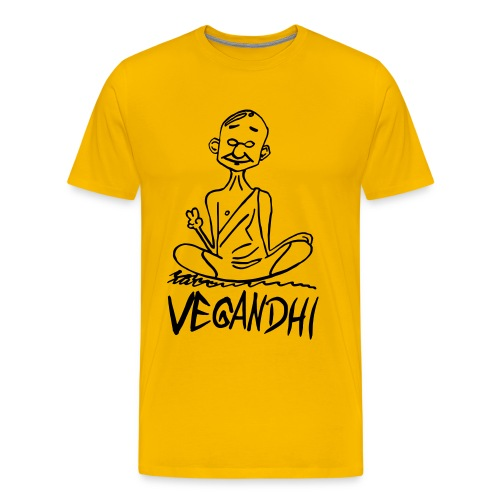 Vegandhi - Männer Premium T-Shirt