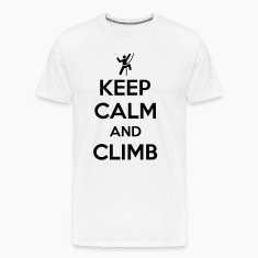 Keep calm and climb Koszulki