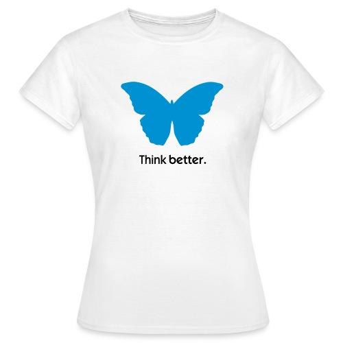 Think Better MorphOS, blau-schwarz - Frauen T-Shirt