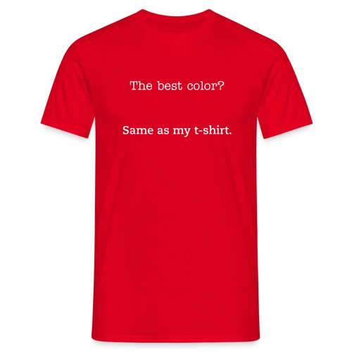 Red is best - Men's T-Shirt
