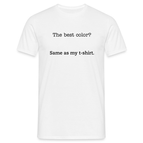 White is best - Men's T-Shirt