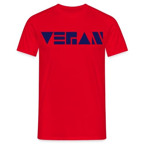 Vegan Blockschrift - Männer T-Shirt