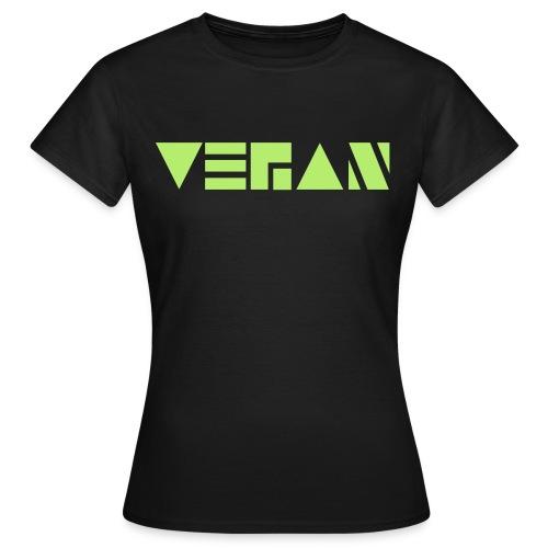 Vegan Blockschrift - Frauen T-Shirt