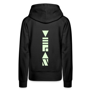 Vegan Blockschrift Glow in the Dark - Frauen Premium Hoodie