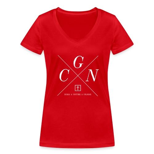 CGN Damen Shirt - Frauen Bio-T-Shirt mit V-Ausschnitt von Stanley & Stella