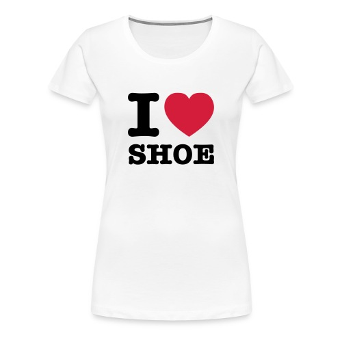 I Love SHOE - T-Shirt - Frauen Premium T-Shirt