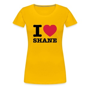 I Love Shane - T-Shirt - Frauen Premium T-Shirt