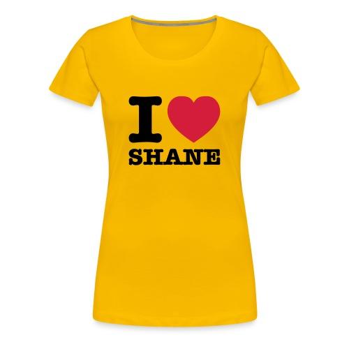 I Love Shane - T-Shirt - Frauen Premium T-Shirt
