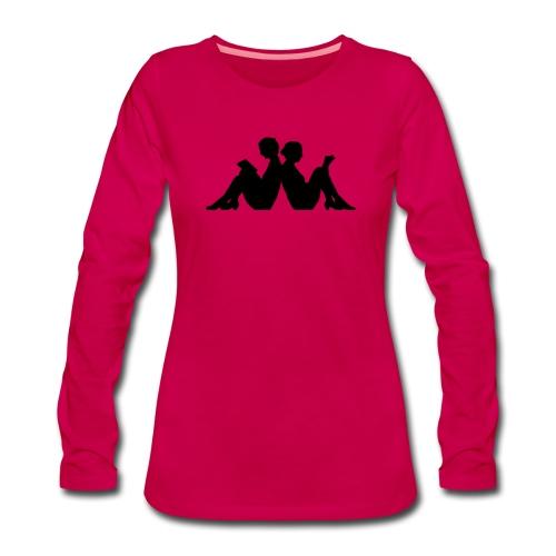 LÄSRO - Långärmad premium-T-shirt dam