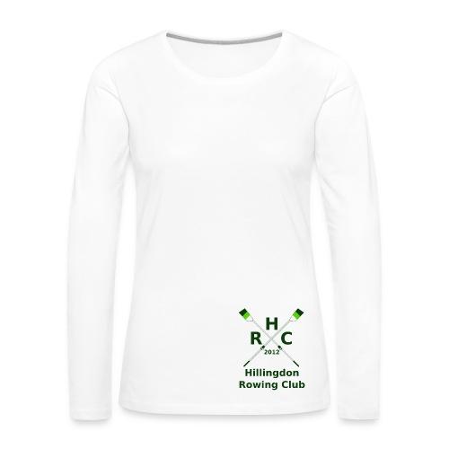 Women's Single Logo  (Long Sleeve) - White - Women's Premium Longsleeve Shirt