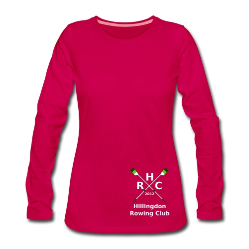 Women's Single Logo  (Long Sleeve) - Pink - Women's Premium Longsleeve Shirt