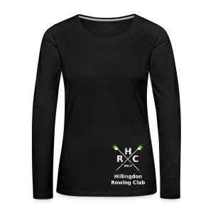 Women's Single Logo  (Long Sleeve) - Black - Women's Premium Longsleeve Shirt