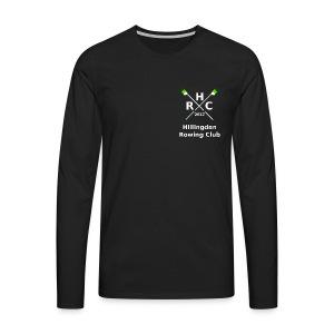 Men's Single Logo (Long Sleeve) - Black - Men's Premium Longsleeve Shirt