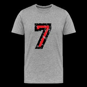 Nummer 7 T-Shirt (Herren Grau) - Männer Premium T-Shirt
