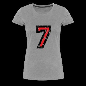 Nummer 7 T-Shirt (Damen Grau) - Frauen Premium T-Shirt