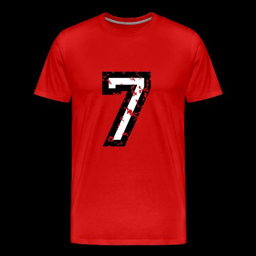 Nummer 7 T-Shirt (Herren Rot) - Männer Premium T-Shirt