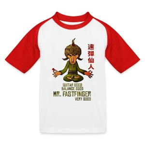 Mr. Fastfinger good kids - Kids' Baseball T-Shirt