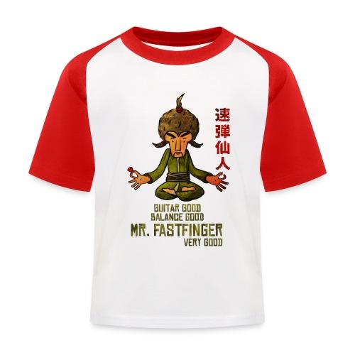 Mr. Fastfinger good kids - Kids' Baseball T-Shirt