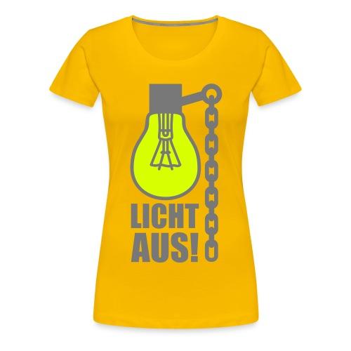 Licht aus Shirt - Frauen Premium T-Shirt