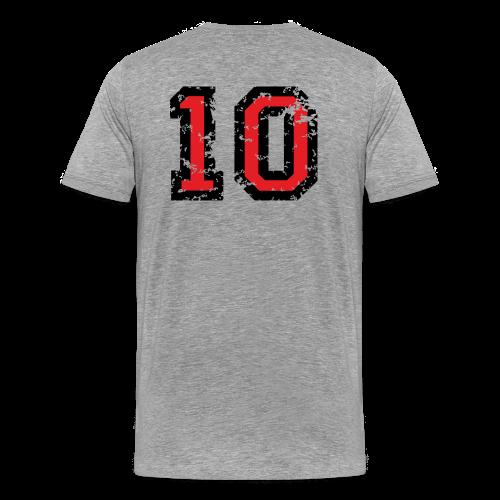 Rückennummer 10 T-Shirt (Herren Grau) - Männer Premium T-Shirt