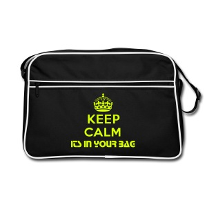 Keep Calm Shoulder Bag - Retro Bag