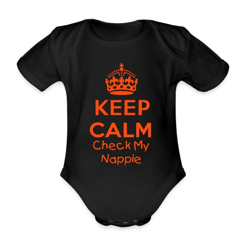 Keep Calm Baby One Piece  - Organic Short-sleeved Baby Bodysuit