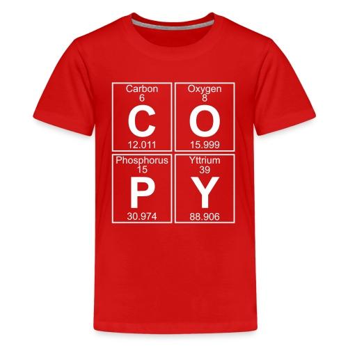 C-O-P-Y (copy) - Full - Teenage Premium T-Shirt