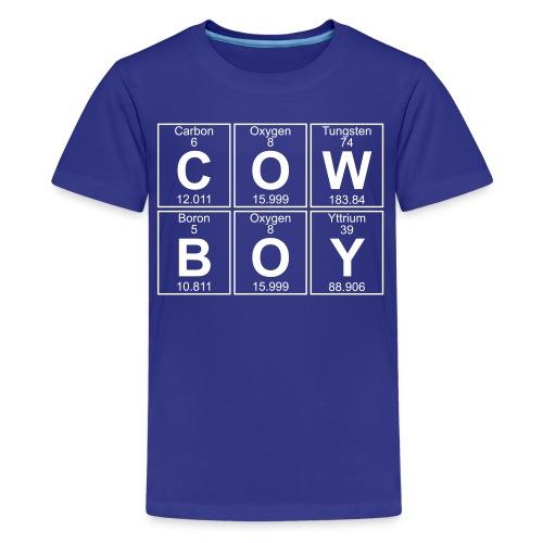 C-O-W-B-O-Y (cowboy) - Full - Teenage Premium T-Shirt